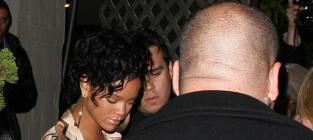 Rihanna leaving the club