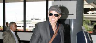 Kellan at the airport