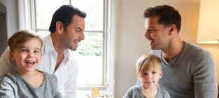 Ricky Martin Poses With Carlos Gonzalez Abella, Kids in Vanity Fair