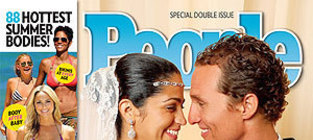 Matthew mcconaughey and camila alves wedding photo