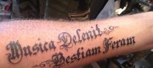 Adam Lambert Shows Off New Tattoo