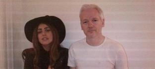 Lady gaga and julian assange