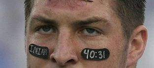 Tim tebow eye black