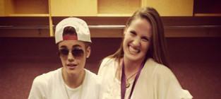 Missy Franklin and Justin Bieber