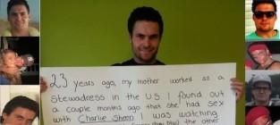 Charlie sheen secret son photo
