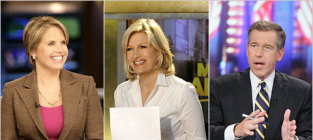 Brian williams katie couric and diane sawyer