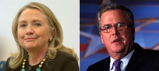 Hillary clinton vs jeb bush