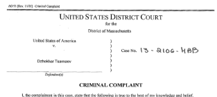 Boston Bombing Criminal Complaint