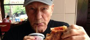 Patrick Stewart Eats First-Ever Slice of Pizza
