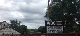 Westboro baptist church sign