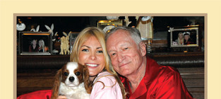 Crystal harris and hugh hefner christmas card