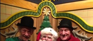 Patrick stewart ian mckellan and santa