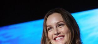 Leighton smiling