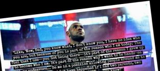 Lebron james note to dad