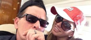 Charlie sheen and brett rossi wedding ring photo