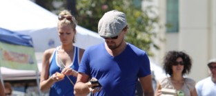 Toni Garnn and Leonardo DiCaprio Pic