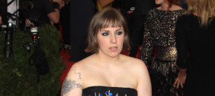 Lena dunham at the met gala