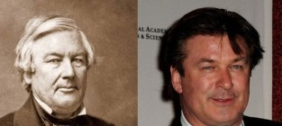 17 celebrities and their historical look alikes alec baldwin and former president millard fillmore