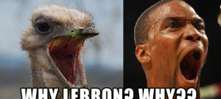 Chris bosh reacts to lebron news