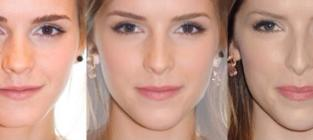 Celebrity face morphs emma watson and anna kendrick