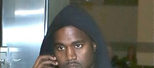Kanye west on the phone
