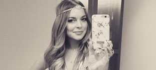 Lindsay lohan new years eve selfie