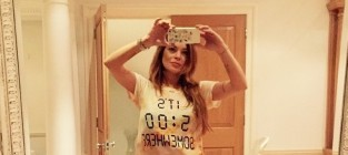 Lindsay lohan booze shirt photo