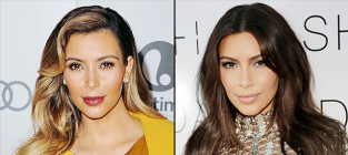 17 celebrity hair color changes kim kardashian