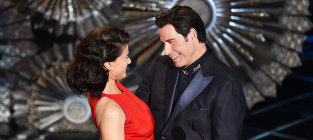13 memorable quotes from the 2015 academy awards idina menzel and john travolta
