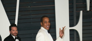 Jay z at vanity fair oscars after party