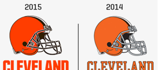 Cleveland browns new helmet logo