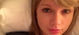 Taylor swift makeup free with cat