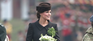 Kate middleton visits the irish guards
