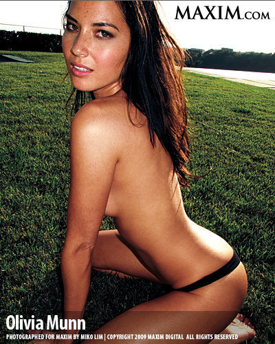 Olivia Munn Shirtless