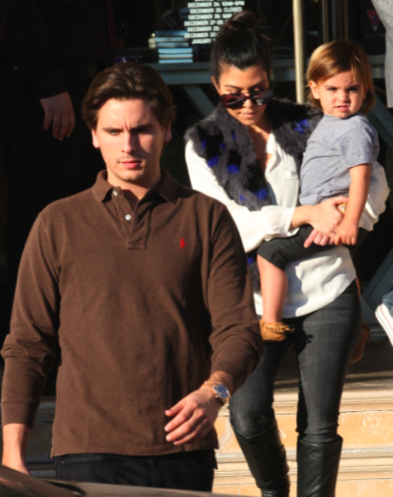Kourtney Kardashian, Scott Disick and Mason