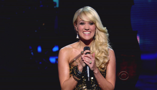 Carrie Underwood on Grammys Stage