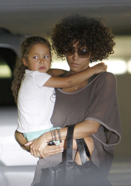 Halle Berry Carries Nahla