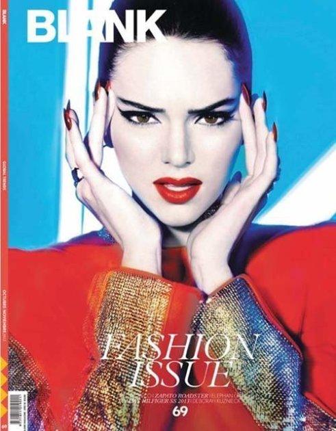 Kendall Jenner Blank Magazine Cover