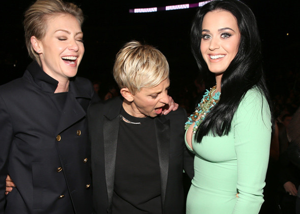 Ellen and Katy Perry