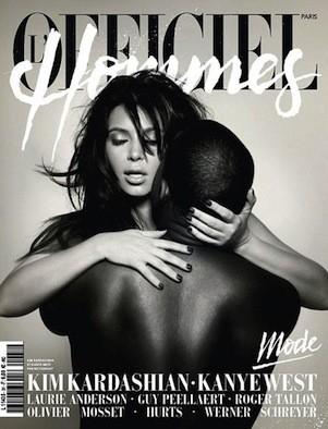 Kim Kardashian and Kanye West Magazine Cover
