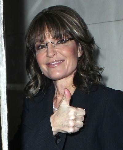 Thumbs Up From Sarah Palin