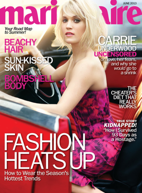 Carrie Underwood Marie Claire Cover