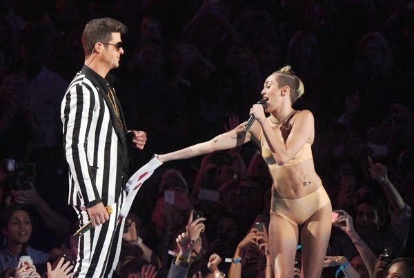 Miley Cyrus and Robin Thicke