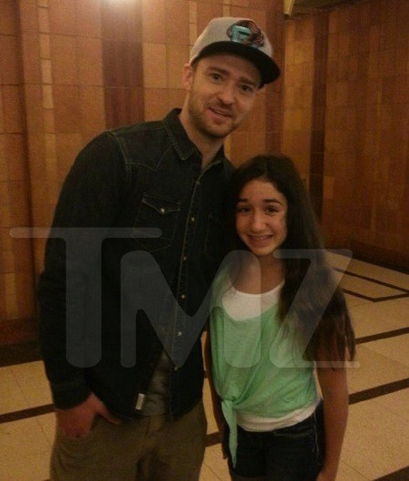 Justin Timberlake and Young Fan