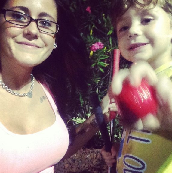 Jenelle Evans and Son Selfie