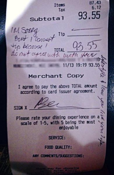 Gay Lifestyle Receipt