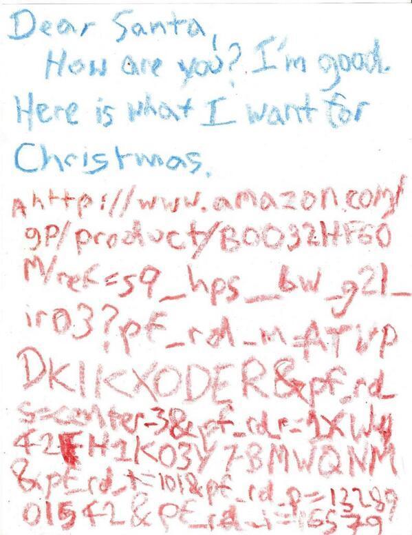 Dear Santa Amazon Letter