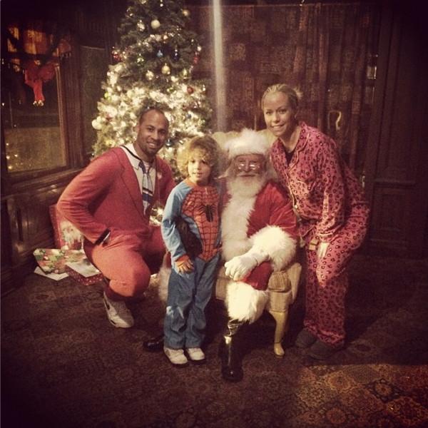 Kendra and Hank on Christmas