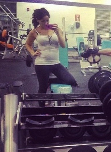 Jenelle Evans Baby Bump at the Gym