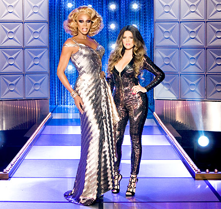 Khloe Kardashian and RuPaul